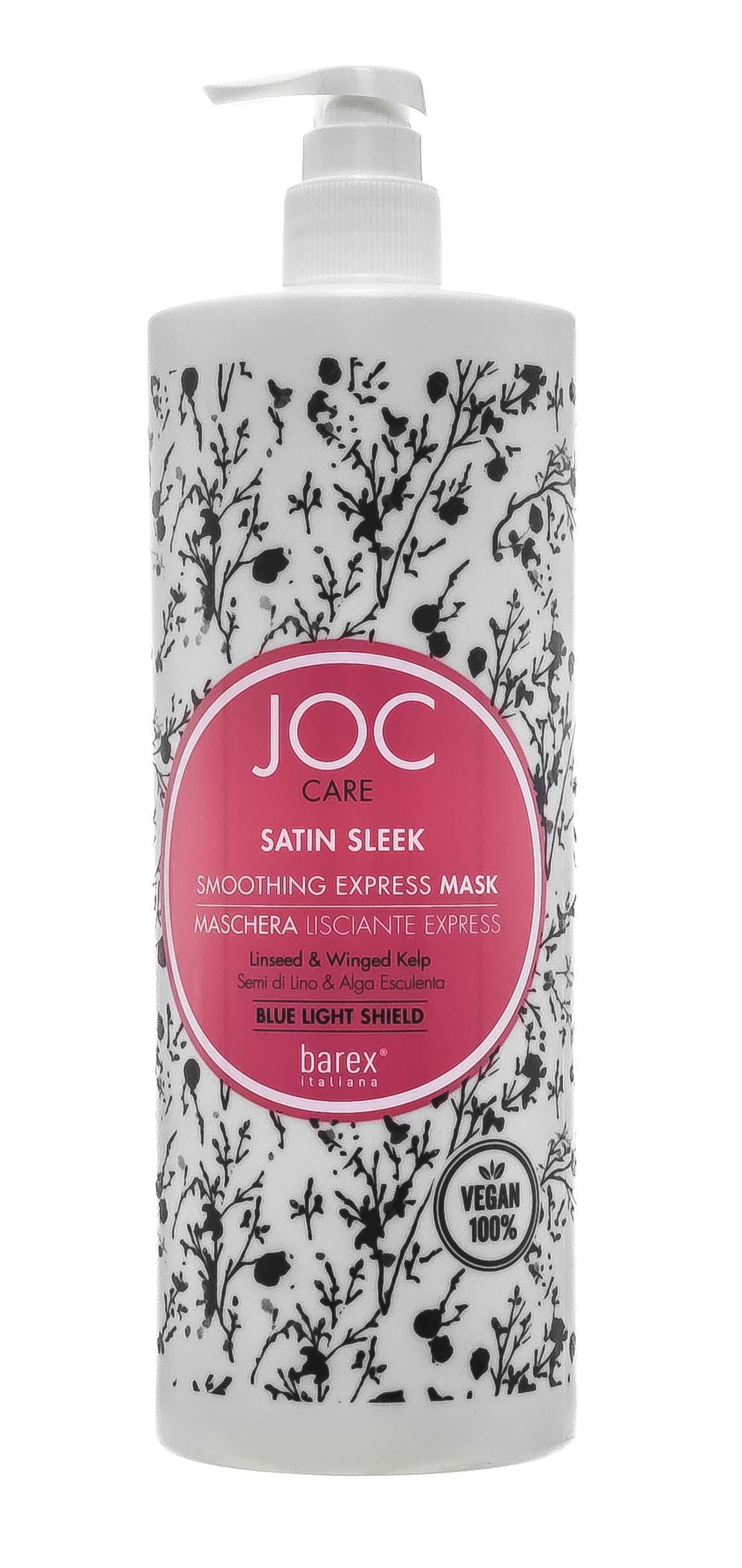 Barex Разглаживающая Экспресс-маска с льняным семенем и крылатой водорослью Satin Sleek, 1000 мл (Barex, Joc Color Line) недорого