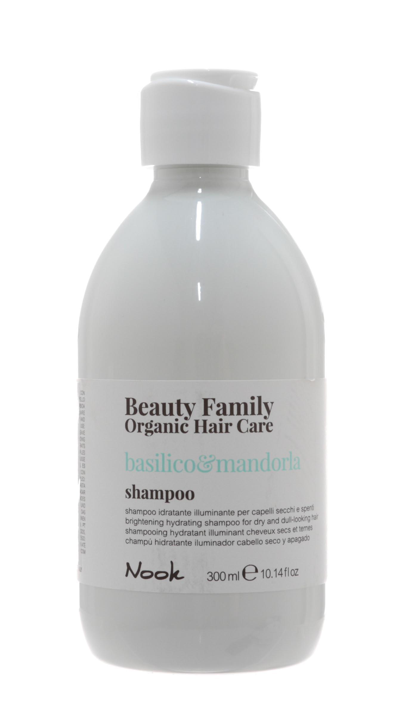 Купить Nook Шампунь для сухих и тусклых волос Basilico&Mandorla, 300 мл (Nook, Beauty Family)