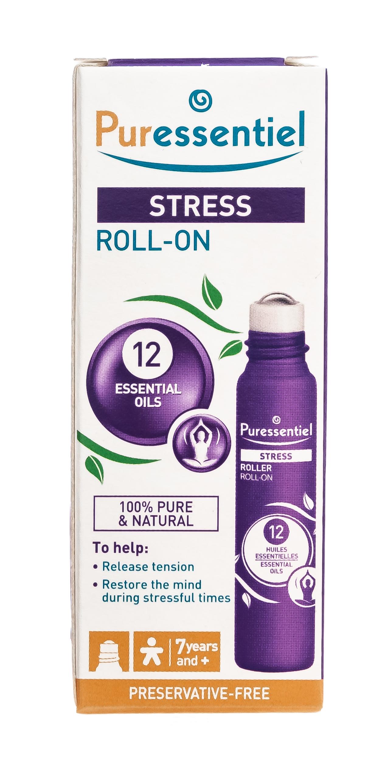 Купить Puressentiel Роллер Антистресс 12 эфирных масел , 5 мл (Puressentiel, Отдых и Релакс)